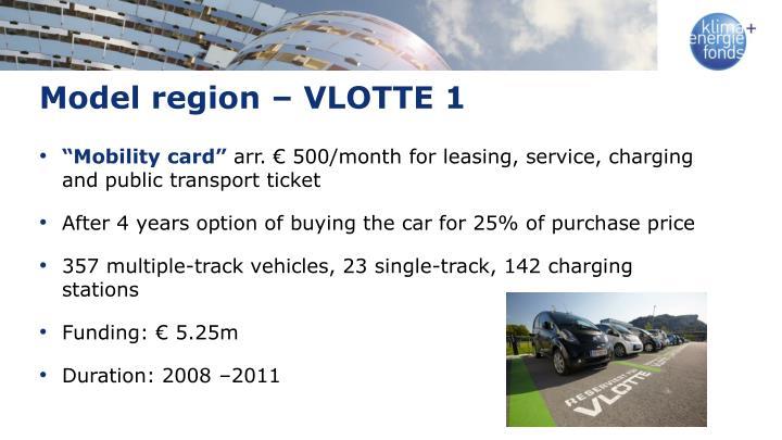 Model region – VLOTTE 1