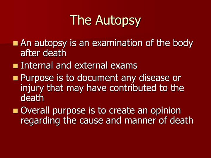 The autopsy1