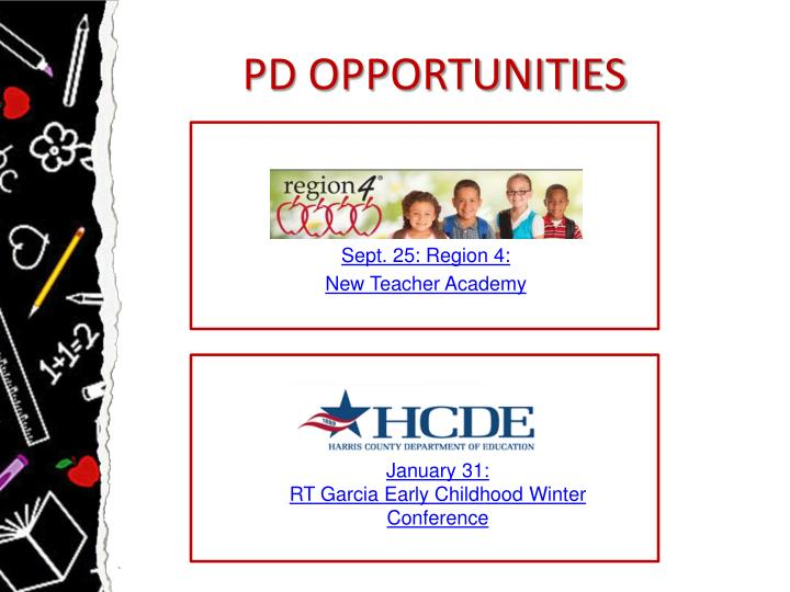 PD OPPORTUNITIES