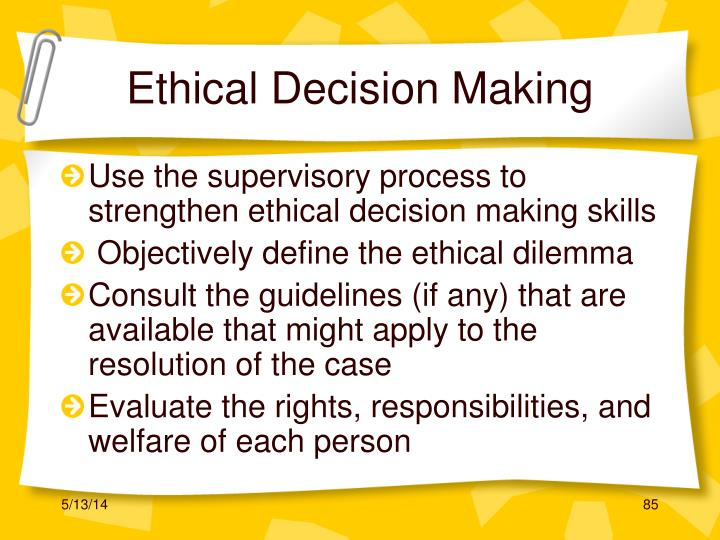 Ethical Decision Making