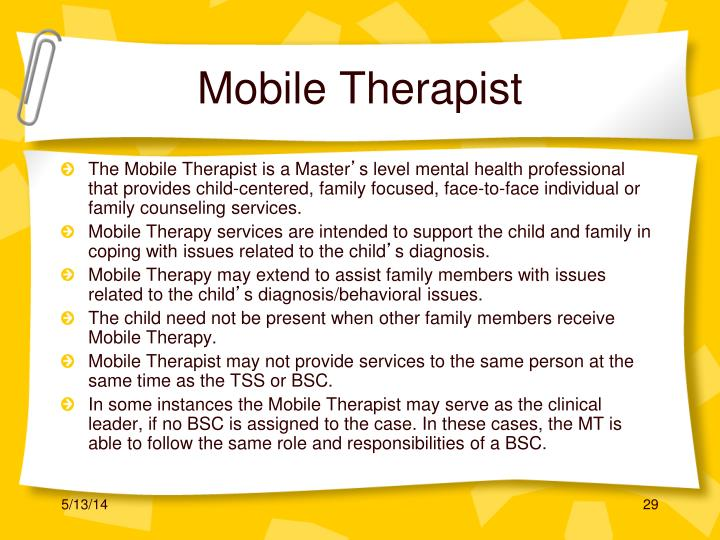 Mobile Therapist