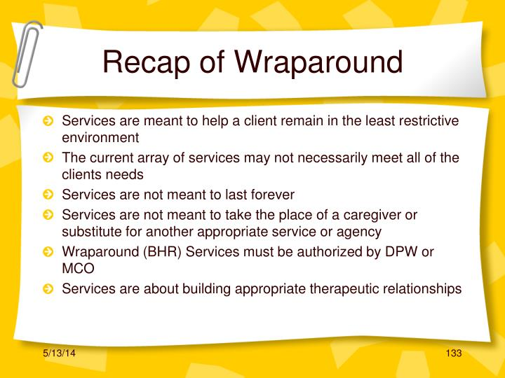Recap of Wraparound