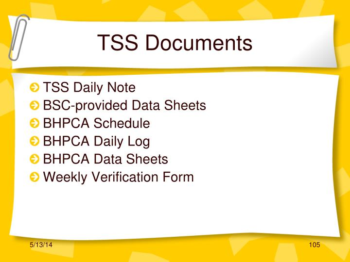 TSS Documents
