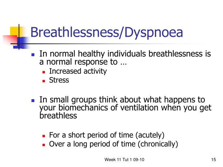Breathlessness/Dyspnoea