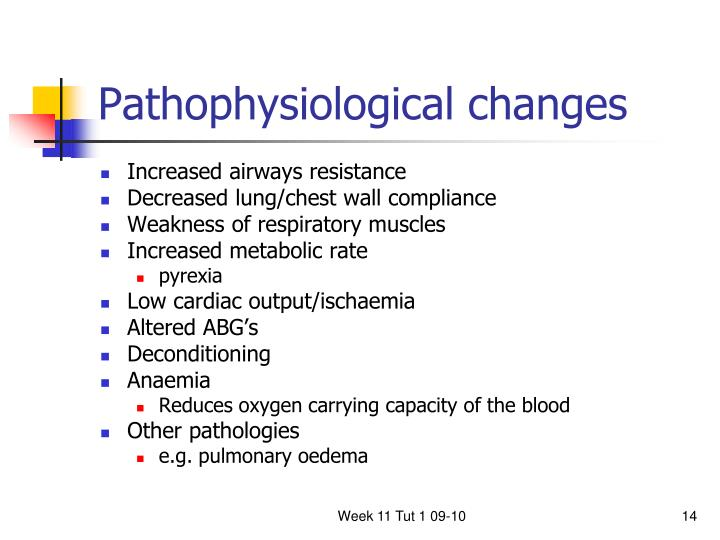 Pathophysiological changes