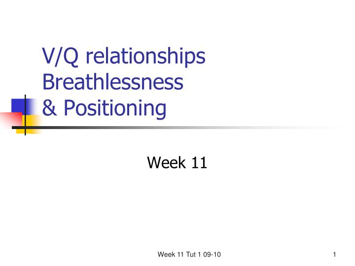 V q relationships breathlessness positioning