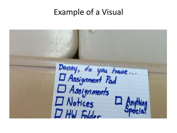 Example of a Visual