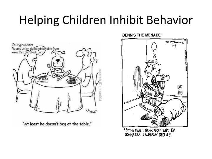 Helping Children Inhibit Behavior