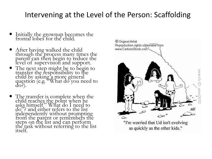 Intervening at the Level of the Person: Scaffolding