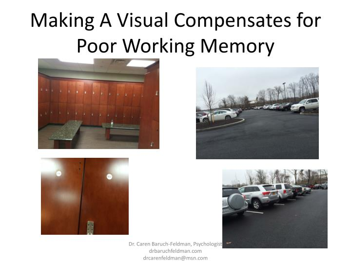 Making A Visual Compensates for Poor Working Memory