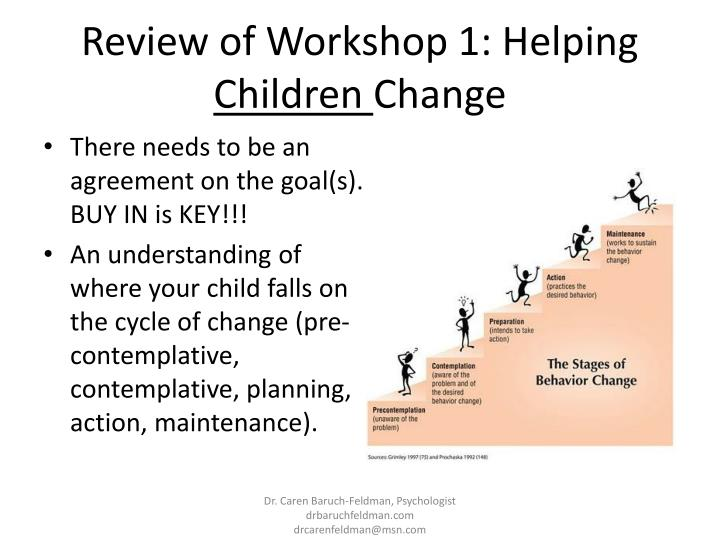 Review of Workshop 1: Helping