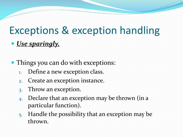 Exceptions exception handling1