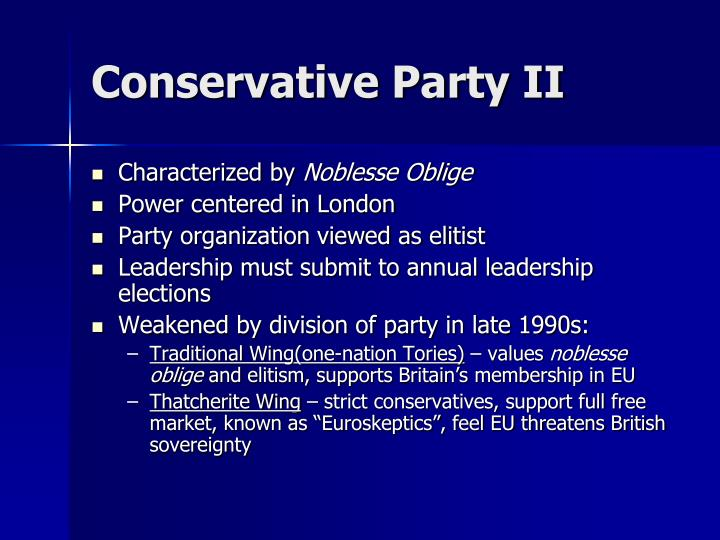 Conservative Party II