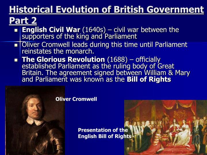 Historical Evolution of British Government Part 2