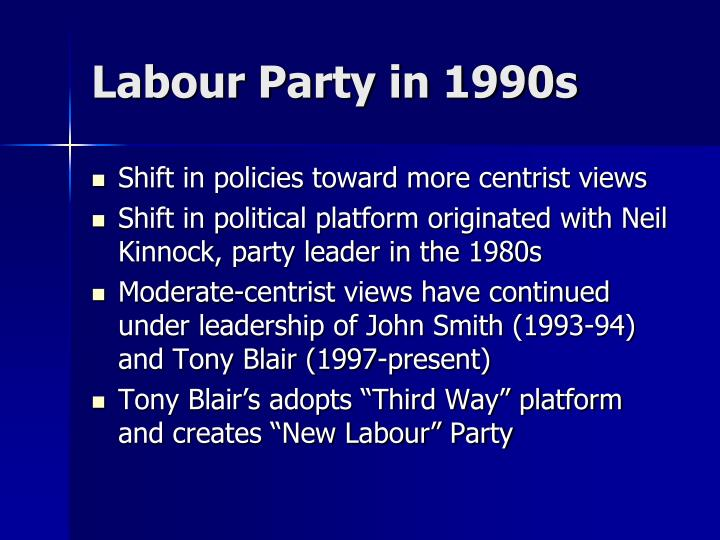 Labour Party in 1990s