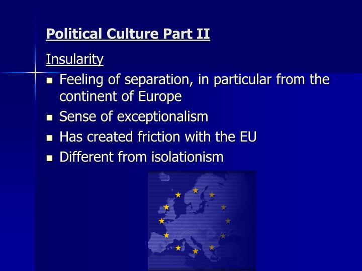 Political Culture Part II
