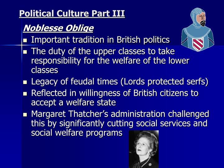 Political Culture Part III