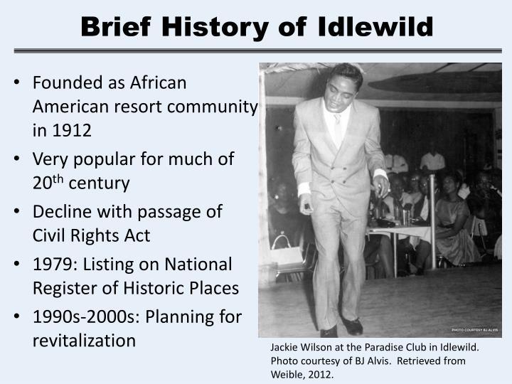 Brief History of Idlewild