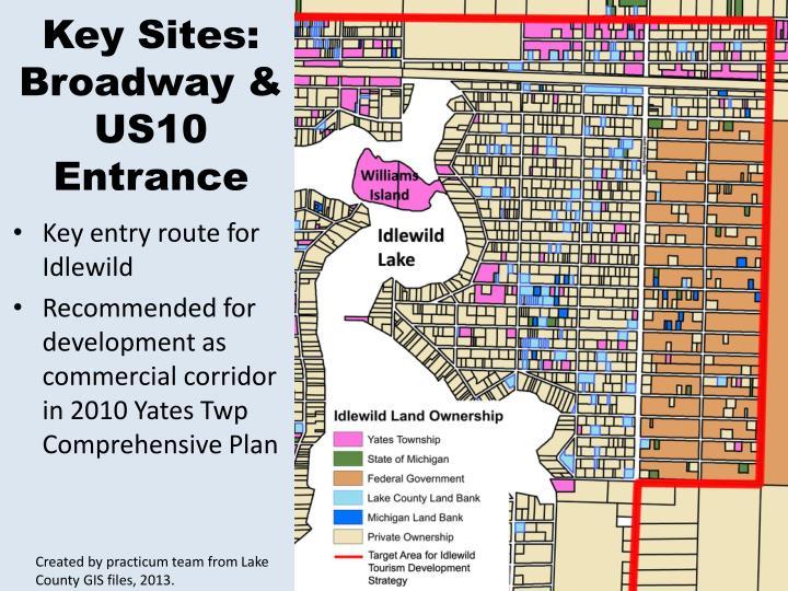 Key Sites: Broadway & US10 Entrance