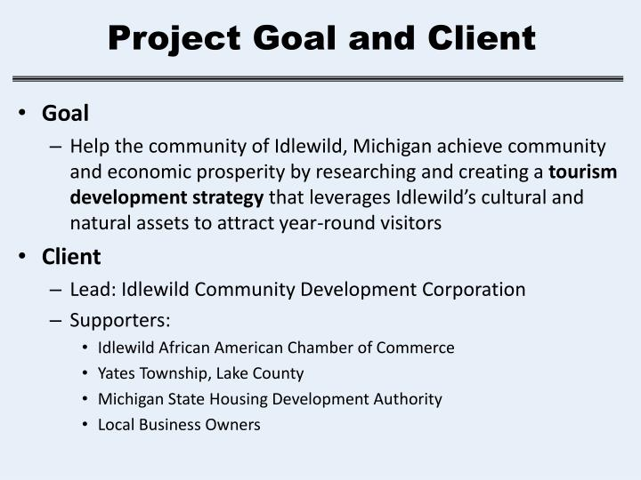 Project goal and client
