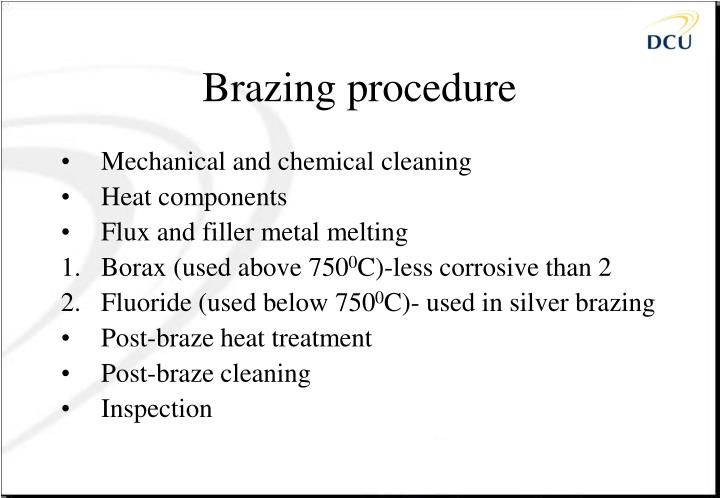 Brazing procedure