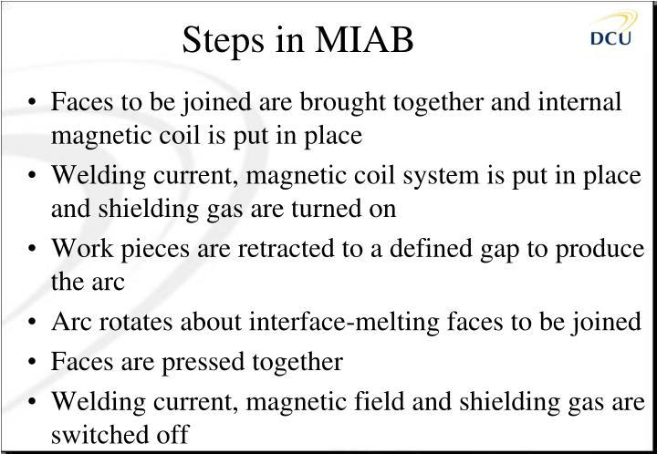 Steps in MIAB
