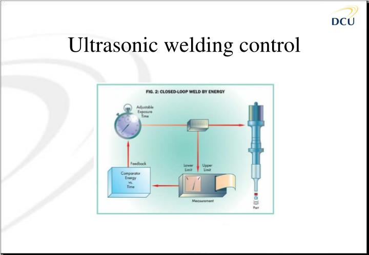 Ultrasonic welding control