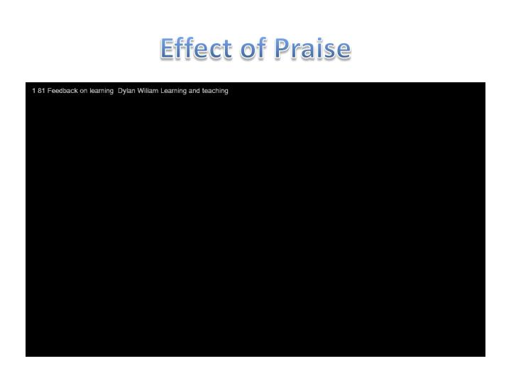 Effect of Praise