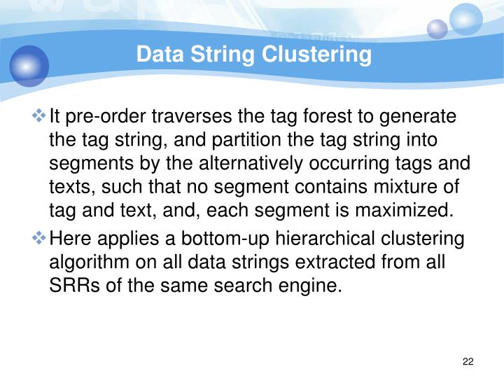 Data String Clustering