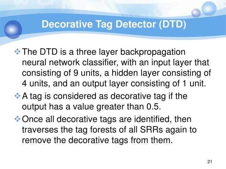 Decorative Tag Detector (DTD)