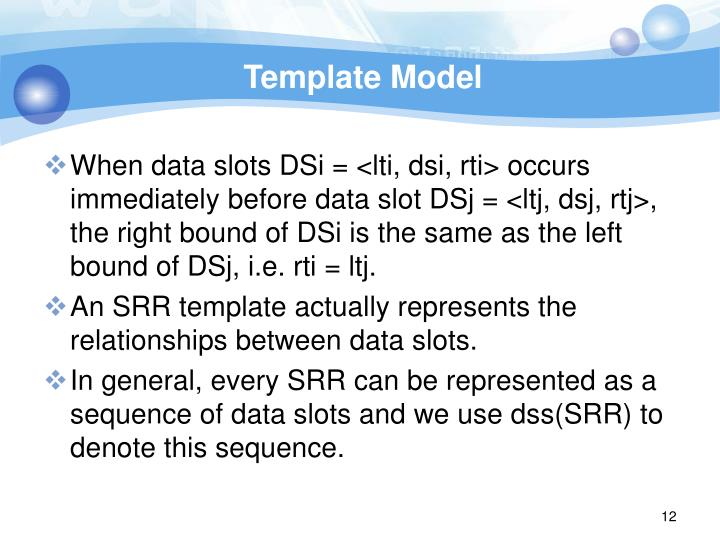 Template Model
