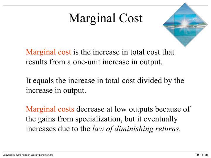 Marginal Cost
