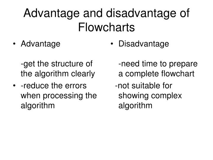 advantages and disadvantages of algorithm