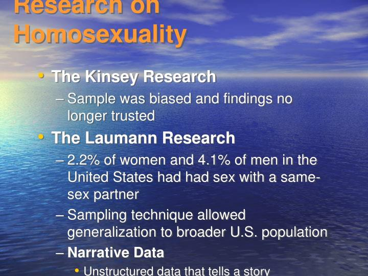 Research on Homosexuality