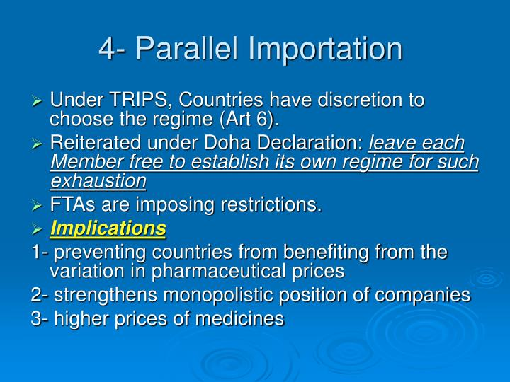 4- Parallel Importation