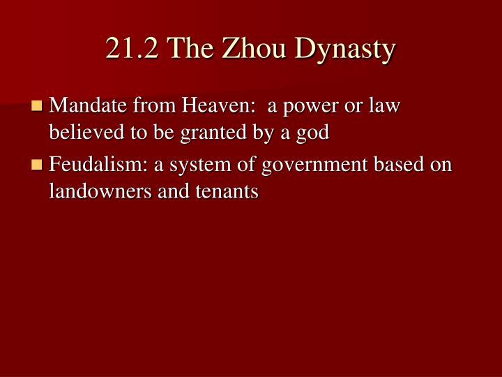 21 2 the zhou dynasty