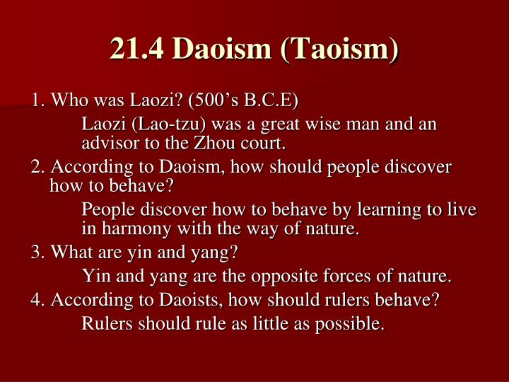 21.4 Daoism (Taoism)