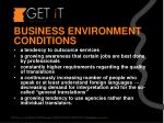 business environment conditions
