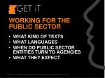 working for the public sector