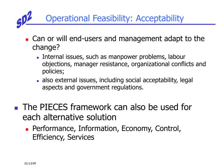 Operational Feasibility: Acceptability
