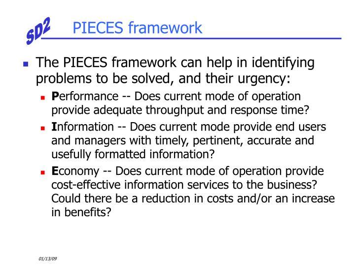 PIECES framework