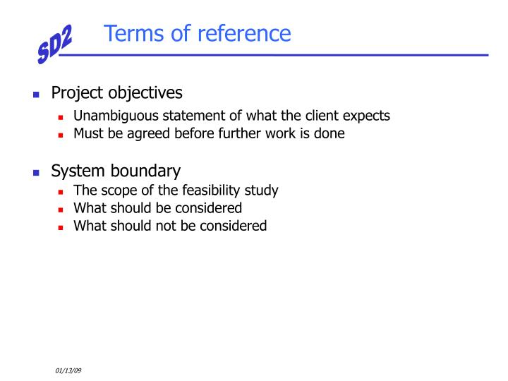 Terms of reference