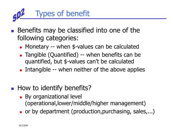 Types of benefit