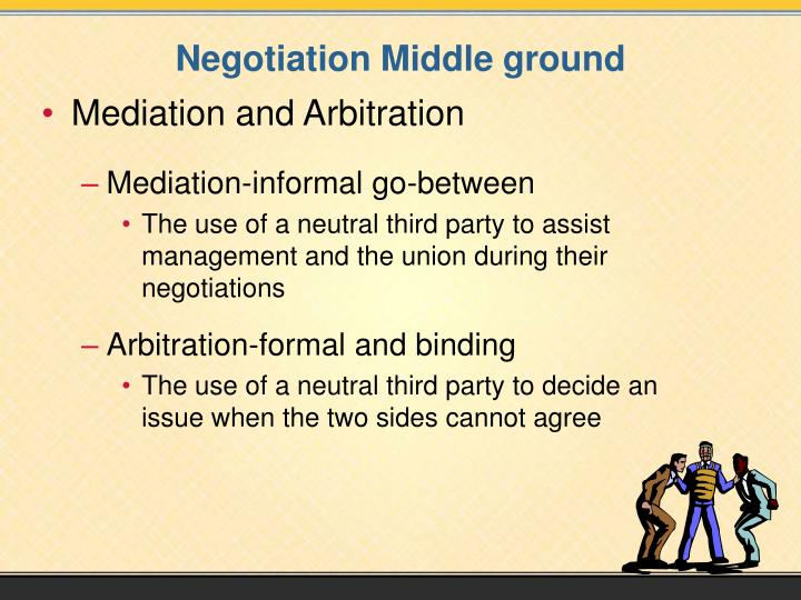 Negotiation Middle ground