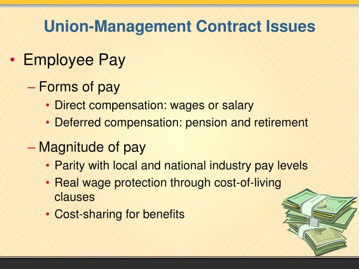 Union-Management Contract Issues