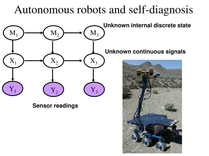 Autonomous robots and self-diagnosis