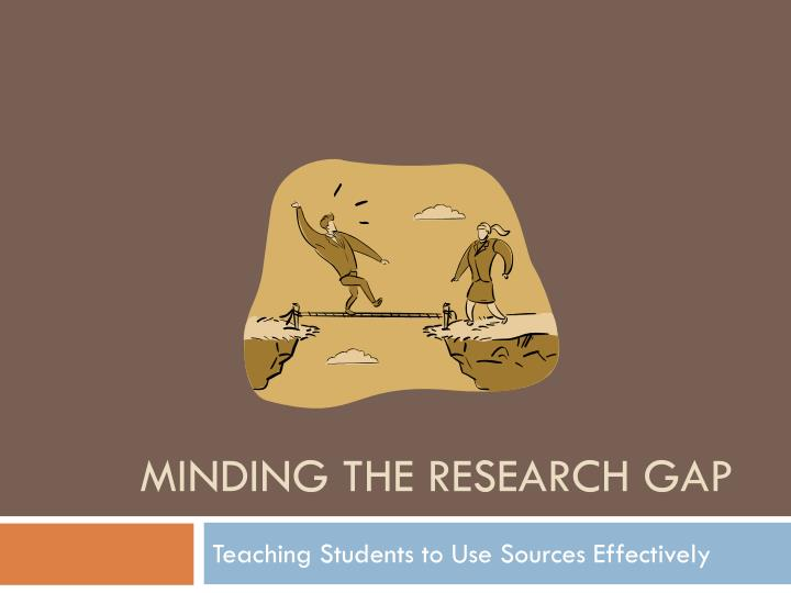 minding the research gap n.