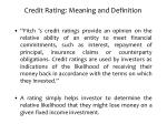 credit rating meaning and definition