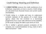 credit rating meaning and definition1