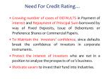 need for credit rating